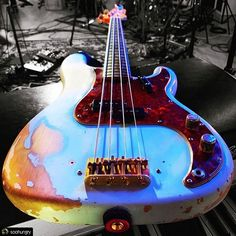 Image may contain: guitar Fender Bass Guitar, Fender Precision Bass, Music Stuff, Drums, Musical Instruments, Rock, Sexy, Image, Instagram