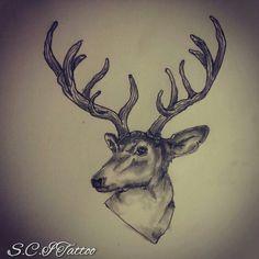 Deer / Antler tattoo sketch by - Ranz