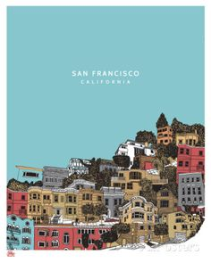 San Francisco Serigraph by Hero Design at AllPosters.com