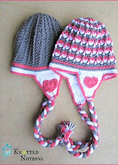 [Free Pattern] This Earflaps Hat Is Amazingly Cute!