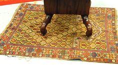 "Shirvan prayer rug, 3'9"" x 4'7"". - Realized Price: $4,255.00"
