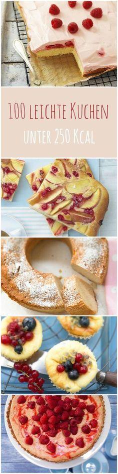 Kuchen Ideen für leichte und leckere Sommerkuchen unter 250 kca - Hier gehts zum Gratis Online Kochbuch zum Durchklicken