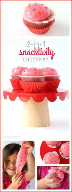 Preschooler Snacktivity Cupcakes | 2-in-1 Play Dough & Snack - Raising Whasians #MixInImagination #IC #ad