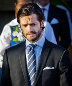Prince Carl Philip of Sweden attend the celebrations at Skansen park during the 2013 National Day in Stockholm