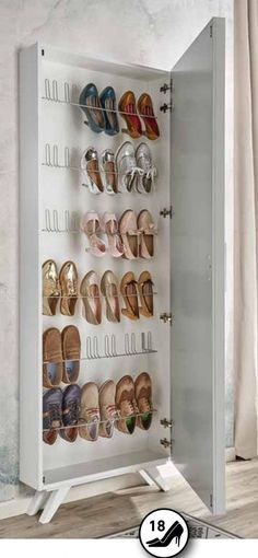 Shoe Cabinet - Organizing shoes can be difficult, but fortunately there is a simple and surprisingly versatile solution