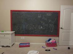 So many things to talk about: Large Wall Chalkboard