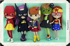 Blythe as DC Superheroes (Flash, Batgirl, Supergirl, Green Lantern, Wonder Woman)