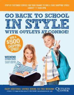 Back to School Sale. August 7 - 9.