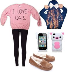 """""""~Lazy outfit ♥"""" by maddiluvsu ❤ liked on Polyvore"""
