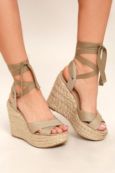 1870a051801d Esme Natural Lace-Up Espadrille Wedges Affiliate. I will make a small  commission through