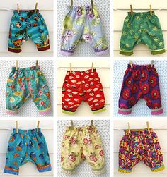 Easy Reversible Baby and Toddler Pants by scientificseamstress