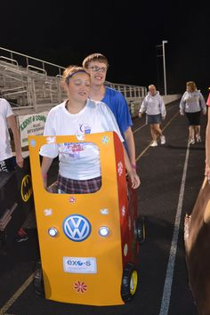 relay for life cardboard cars
