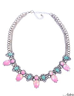 #aubrie #aubriepl #aubrie_necklaces #necklaces #necklace #jewelery #accessories #kasey #pastel #colorful #shine #crystal