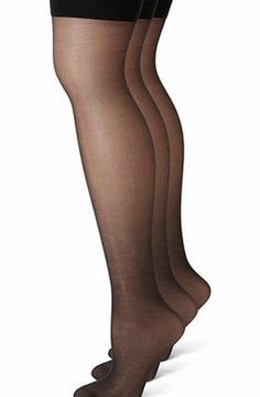Bhs Womens Black 3 Pairs 15 Denier Soft Shine Premium sheer stockings with a soft shine finish for a natural look.78% Nylon 22% Lycra Elastane3 pairs15 Denier appearanceSoft Shine leg finish for a natural lookPlain stocking topReinforced toes http://www.comparestoreprices.co.uk/fashion-clothing/bhs-womens-black-3-pairs-15-denier-soft-shine.asp