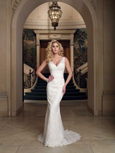 David Tutera for Mon Cheri Verda | Sheath Wedding Dress