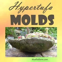 use these to make unique hypertufa creations Hypertufa Molds; almost anything can be used to make a unique hypertufa creationHypertufa Molds; almost anything can be used to make a unique hypertufa creation Cement Art, Concrete Garden, Concrete Planters, Diy Planters, Garden Crafts, Garden Projects, Garden Art, Garden Design, Garden Ponds