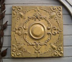 Antique Ceiling Tin Tile. FRAMED 2'x2'.  Circa by DriveInService