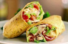 Wrap integral proteico -  Ingredientes para a massa: 50g de farinha de aveia…