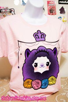 Pastel Goth Kawaii Alpaca Fairy Kei Womens T by thekawaiimachine, $22.00