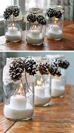 Nice 50 Easy DIY Christmas Decorations Ideas on a Budget https://roomaniac.com/50-easy-diy-christmas-decorations-ideas-budget/