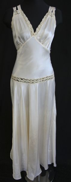 "I have an ""antique"" night gown just like this in burgundy beautiful 1940's style"