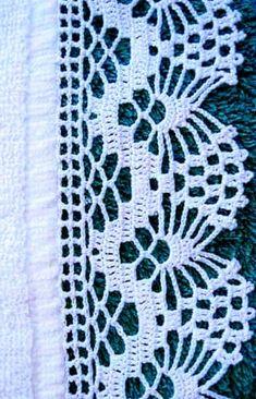 Crochet Edging Patterns Free, Crochet Boarders, Crochet Mandala Pattern, Lace Knitting Patterns, Crochet Lace Edging, Filet Crochet, Crochet Doilies, Crotchet Stitches, Thread Crochet
