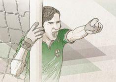 Goalkeeper for TourneyCentral by Bartosz Kosowski, via Behance