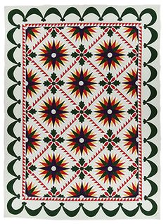 IQSCM | Collections | Quilt of the Month Jan 2017 Made by Mary Campbell Ghormley Lincoln, NE 1986