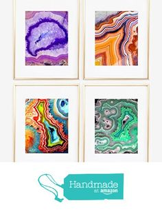 Set of four print Geode collection Stone Agate Crystal Wall Art Print Baby Kids room by Artist Home Decoration 0207 from Artlantida http://www.amazon.com/dp/B0176O837E/ref=hnd_sw_r_pi_dp_6sz1wb14J6H5E #handmadeatamazon