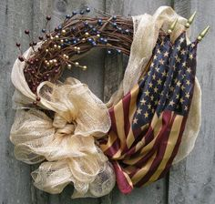 Americana Fourth of July Wreath by NewEnglandWreath on Etsy