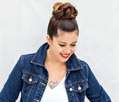 'Dos for a Rainy Day: The Twisted Top Knot. Lots of little coils create one great look. Twisting strands into mini-buns makes the giant topknot super-secure. DIY blogger Jenni Radosevich gives you the full how-to in her tutorial. #SELFmagazine