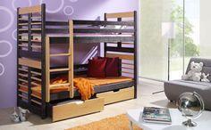 Pat etajat din lemn masiv Aron pentru copii si adolescenti | TimeZ.ro Childrens Bunk Beds, Beds For Sale, Double Beds, King Beds, Storage Drawers, Kids Furniture, Mattress, Interior Design, Cheap Beds