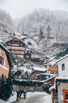 Hallstatt, Austria - by Madeline Lu Hallstatt, Winter Scenery, To Infinity And Beyond, Beautiful Places To Travel, Travel Aesthetic, Winter Travel, Dream Vacations, Wonders Of The World, Places To See