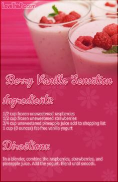 Berry Vanilla Sensation Recipe Pictures, Photos, and Images for Facebook, Tumblr, Pinterest, and Twitter
