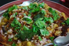 Ragda Pattice (or Ragda Patties) A popular #streetfood (#chaat) of #Mumbai.
