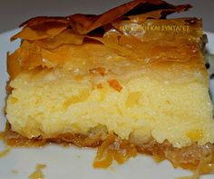 Greek Sweets, Greek Desserts, Greek Recipes, Cornbread, Pudding, Ethnic Recipes, Food, Syrup, Kuchen