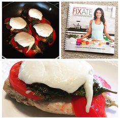 Omg this was SO yummy! I made Caprese Chicken last night for dinner from the new FIXATE cookbook and it was delicious! I definitely plan on making all 101 recipes LOL Healthy Meal Prep, Healthy Food, Healthy Eating, Healthy Recipes, Fixate Cookbook, Cookbook Recipes, Clean Gut, Beachbody Shakeology, 21 Fix