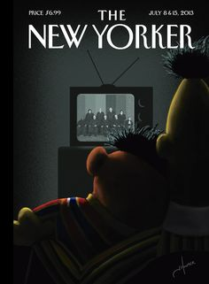 """The New Yorker - Monday, July 8, 2013 - Issue # 4504 - Vol. 89 - N° 20 - Cover """"Moment of Joy"""" by Jack"""