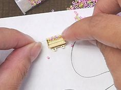 Filling a Delica Seed Bead Clasp ~Seed Bead Tutorials