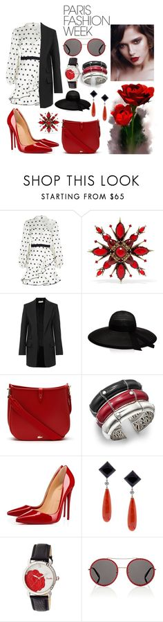 """""""Fashion Week"""" by xautumnxrainx ❤ liked on Polyvore featuring self-portrait, Alexander McQueen, Chloé, Eugenia Kim, Lacoste, John Hardy, Christian Louboutin, Pampillonia, Bertha and Gucci"""