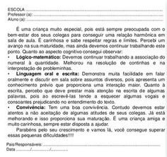 Educação informatizada *****: RELATÓRIOS INDIVIDUAIS/MODELOS/ INFANTIL E ANOS INICIAIS