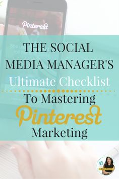 If you want to be THE Master Pinterest Manager, this 75 Point Checklist if for you!