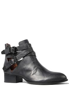 Jeffrey Campbell Boots Cut Outs in Black - Karmaloop.com  -  leather, straps, buckles.        lj