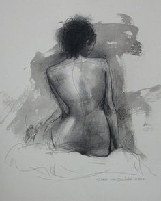 """Pen and Ink, Drawing """"Life Drawing """" Loose wash in the background and soft feeling Life Drawing, Figure Drawing, Drawing Sketches, Painting & Drawing, Art Drawings, Art Prints Online, Art Online, Pen And Wash, Gravure"""