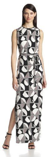 Donna Morgan Women's Sleeveless Maxi Dress with Side Slit on shopstyle.com