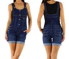 Find more on www.fashion-darling.de NEU Damen Latzshorts Latzhose Shorts Bermudas Jeans M L 38 40 Overall Playsuit