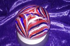 Check out this item in my Etsy shop https://www.etsy.com/listing/252225425/crystal-ball-art-glass-mma-paperweight