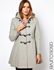 ASOS CURVE Swing Duffle Coat