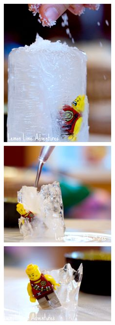 Lego Ice Excavations | Hilarious pictures and Lots of Fun Science! Great for a hot summer day!