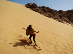 Sandboarding in Dahab, South Sinai, Egypt. We even surf the sand dunes here in Dahab :-) <3 www.dahabvillas.com